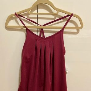 Old Navy Maroon work out tank top